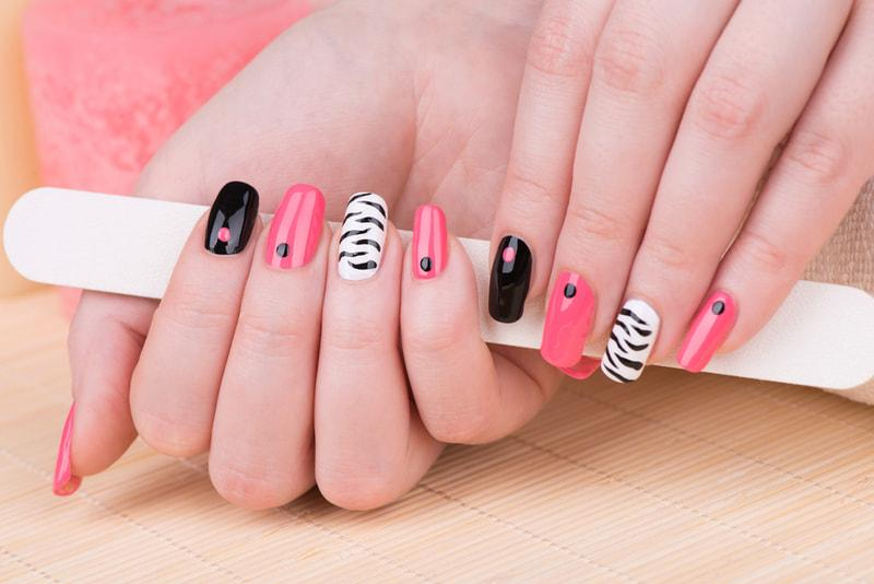 Steps to make a permanent manicure and show off heart attack hands